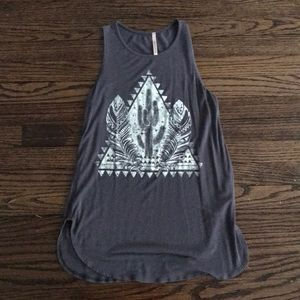 Gently Used ModCloth Graphic Tank Small